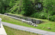 The remains of the Enlarged Erie Canal Lock 36 in Little Falls.