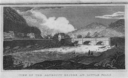 A print of the Little Falls Aqueduct.