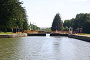 The entrance of Lock C8 from the high side.