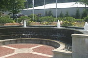 Fountain at Little Falls Terminal Wall.