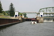 The view of the lower side of the lock from the west.
