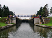 The east side of the lock.
