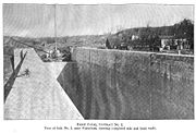 View from top of lock looking west during construction (1907).