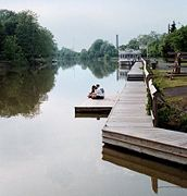 The docks just outside the downtown area of Fairport.