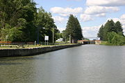 Champlain Canal Lock C8 on the Hudson River.