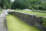 View of the Old Erie Canal Lock 28.